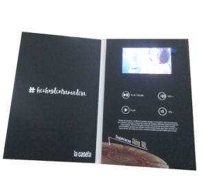 Video Display Greeting Card, Videp in Print VIP pictures & photos