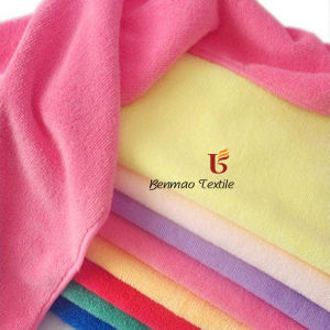 Double Fleece Microfiber Cotton Bath Towel Fabric/Home Textile pictures & photos