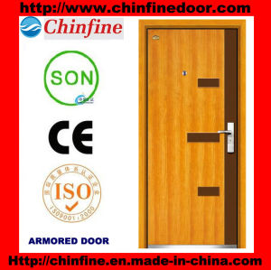 High Quality Steel-Wood Armored Doors (CF-M026) pictures & photos