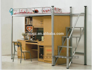 New Arrival School Dormitory Student Bunk Bed with Study Desk pictures & photos