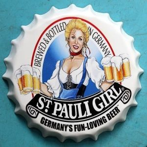 Bar Decorative Sign Beer Signs Wall Decoration with Girl pictures & photos