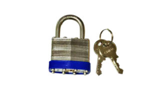 304 Stainless Steel Laminated Padlock with Keys (1513) pictures & photos