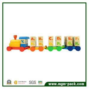 2016 Hot Sale Wooden Train with English Building Blocks pictures & photos