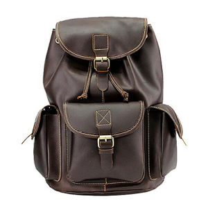 China Bags Men Natural Wholesale High Quality Leather Backpack ...