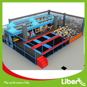 Kids Indoor Trampoline with Castle Themed Playground pictures & photos
