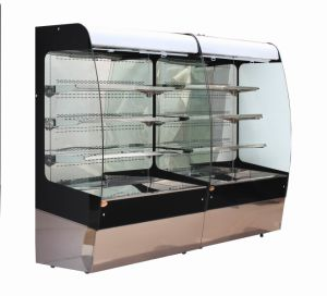 Hot Sale Commercial Refrigerated Supermarket Curtain Showcase Display Cooler pictures & photos