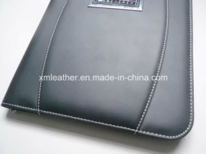 Black PU Leather Cute Padfolio for Office pictures & photos