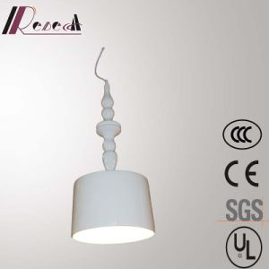 European Restaurant Decorative Glass Firbe Shiny White Resin Pendant Lamp pictures & photos