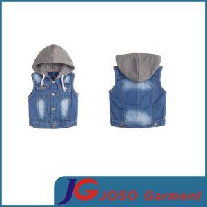 Children Jeans Garment Hooded Jeans Vest (JT8137) pictures & photos