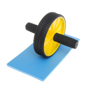 Abdominal Exercise Ab Wheel Roller with Foam Handles, Great Grip, Double Wheels pictures & photos