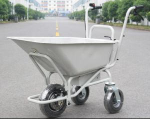 China Electric Three Wheels Metal Garden Cart With Two Handles HG