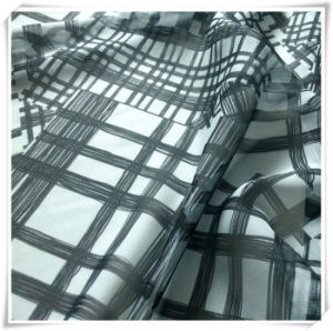 Polyester Chiffon Plaid Fabric Printing, Woven Fabric and Textile for Garment pictures & photos