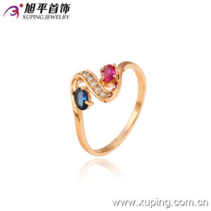 13015 Fashion Hot-Selling Nice 18k Gold-Plated Crystal Jewelry Ring for Lady or Girl pictures & photos