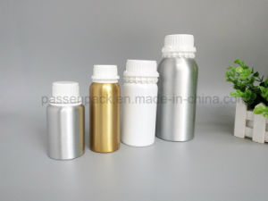 Empty Chemical Aluminum Bottle with White Plastic Tamper-Proof Cap (PPC-AEOB-014) pictures & photos