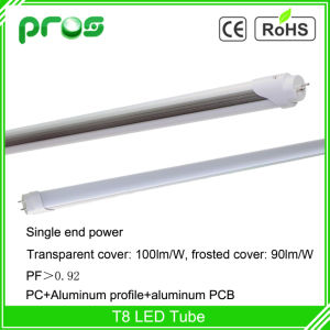 100lm/W T8 LED Tube Light 18W, 1.2m LED Fluorescent Tube pictures & photos