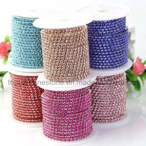 Fancy Rhinestone Chaton Banding Chain Crystal Banding Cup Chain (TCG- ss8 colors) pictures & photos