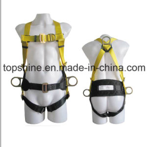 Professional Adjustable Industrial Working Polyester Full-Body Safety Harness Belt pictures & photos