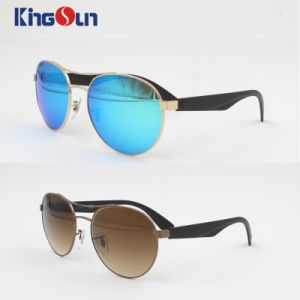 Round Shape Metal Sunglasses with Revo Lens Ks1140 pictures & photos