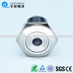 Qn16-D6 16mm DOT Type Momentary Flat Head Bi-Color 12V LED Push Button Switch pictures & photos