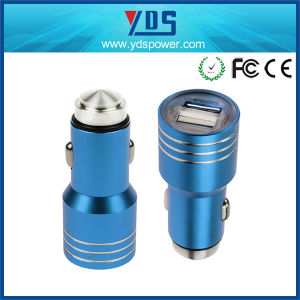 Promotional Universal 5V 2.1A Stainless Steel Mini Dual USB Car Charger pictures & photos