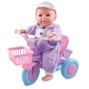 Plastic Baby Doll Set with Bicycle (H0318236) pictures & photos