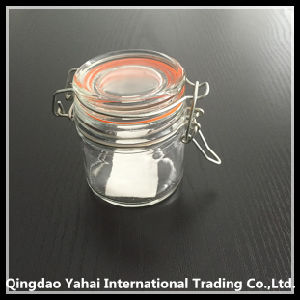 100ml Cylinder Glass Storage Jar with Clip Lid pictures & photos