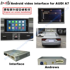 Car HD Upgrade Multimedia Android GPS Navigation Video Interface for A7 Support DVD/TV/Mirrorlink pictures & photos