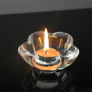 High Quality Transparent Crystal Candle Holder (KS140137) pictures & photos