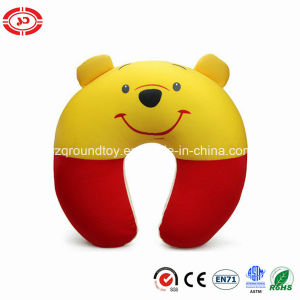 Winne Cute Happy Bear Soft Stuffed Kids Neck Support Pillow pictures & photos