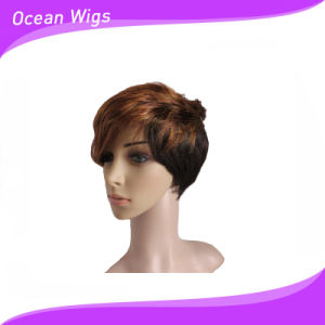 Short Mix Color Synthetic Wig pictures & photos