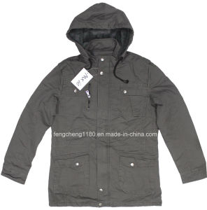 Man Leisure Washing Cotton Jacket with Hoodyt