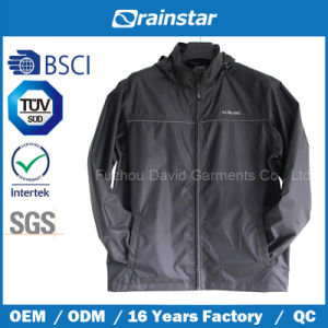 Custom Men Stand Collar Winbreaker Jacket with Logo