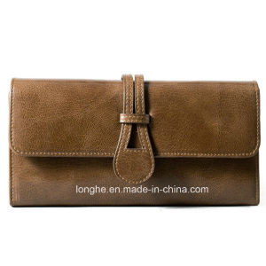 Wholesale Top Quality PU Leather Straight Panel Purses (ZX10154) pictures & photos