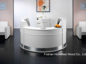 White High Gloss Elegant Salon Reception Desk Counter (HF-R091) pictures & photos