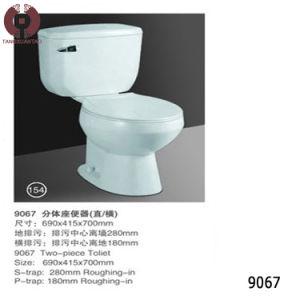 Two Piece Toilet Sanitary Ware Bathroom Toilet (9067) pictures & photos