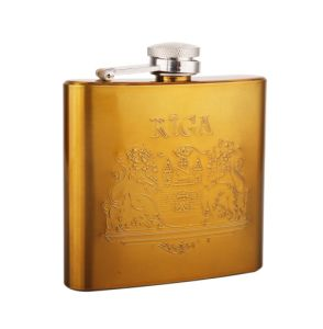 Hip Flask/Wine Flask/Stainless Steel Copper Plate Chivas Whisky Flask pictures & photos