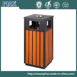 Ashtray Top Square Wood Plastic Composite Waste Bin pictures & photos