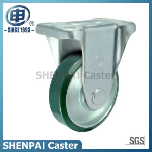 5 Inch Steel-Core PU Industrial Rigid Caster Wheel pictures & photos