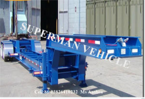 Special Gooseneck Lowbed/ Low Deck/ Low Loader Truck Semi Trailer pictures & photos
