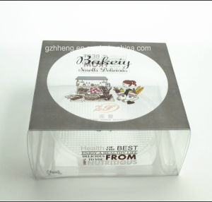 Custom Printed Transparent PVC Plastic Cake Box (PP cake packing box) pictures & photos