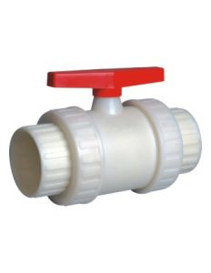 Best Factory Rpp Socket Double Union Ball Valve, Industrial Plastic Valve pictures & photos