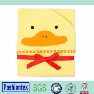 Luvable Friends Animal Duck Hooded Bath Towel Child Hooded Towel pictures & photos