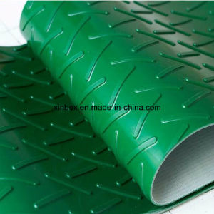 PVC Green Chevron/Herringbone Conveyor Belt pictures & photos