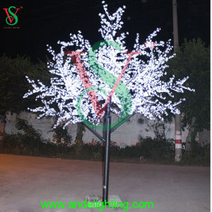 24V Waterproof Artificial LED White Cherry Flower Tree Light pictures & photos