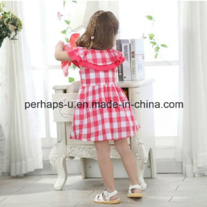 Fashion Stripe Lovely Princess Girls Dress Kids Flower Dress pictures & photos