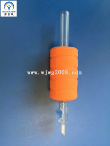 "Tattoo New Disposable 1"" (25mm) Orange Rubber Grips with Transparency Tip Tg-R25-94 pictures & photos"