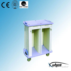 ABS Plastic Hospital Medical Patient Record Trolley (P-2) pictures & photos