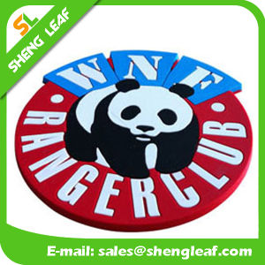 Householder Custom Silicone PVC Rubber Coaster Product (Panda) pictures & photos
