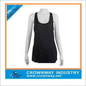 Women Scoop Neck Sports Tank Top Athletic Singlet pictures & photos