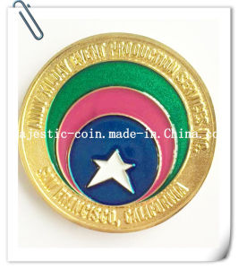 Customized Brass Die Struck Plating Gold Coin (MJ-Coin-120) pictures & photos